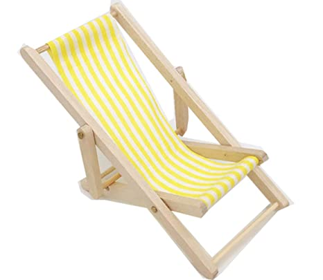 Egurs Miniatura de Rayas Plegable Silla de Playa de Rayas de ...
