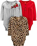 Carter's Unisex Baby Long-Sleeve Bodysuits (6 Months, 3 Pack Holiday)