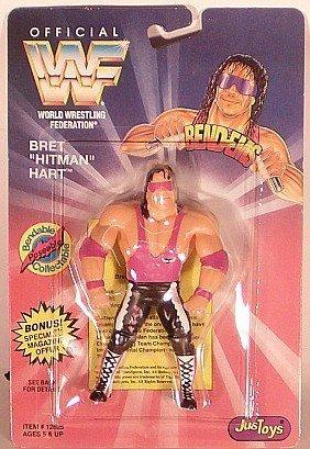 WWF / WWE Bend-Ems Series 1 Bret The Hitman Hart by Jakks Pacific