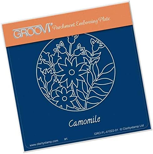 Camomile /& Friends Round A6 Sq Groovi Plate