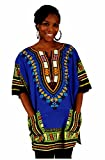 Traditional Thailand Style Dashiki - Available in Several Color Combinations, Blue,XL
