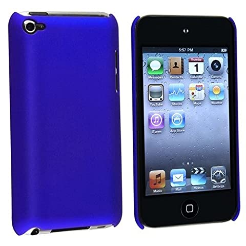 New Premium Plastic Hard Crystal Case Cover for Apple iPod Touch 4G, 4th Generation, 4th Gen - Blue, Seamless Rear Case (Ipod 4th Gen Case Blue)