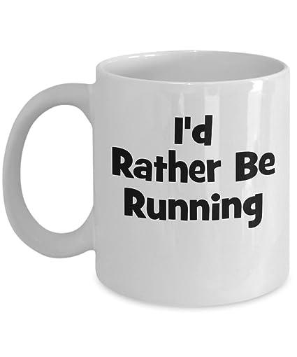 id rather be running mug funny runner coffee mug run gift ideas
