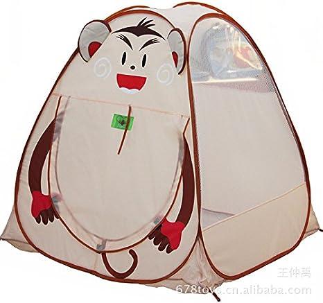 ztt KE Yurta tienda campaña para niños Nacionales dibujos animados Jugar Tiendas de campaña playa acampa Casa Tienda Indoor Outdoor juguete Memoria: Amazon.es: Deportes y aire libre