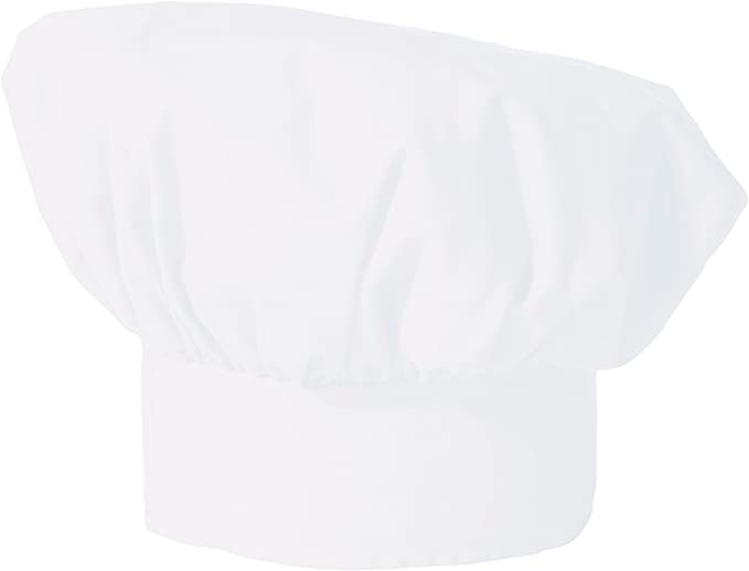 White or Black 0100 Uncommon Threads Poplin Chef Hat Red One Size