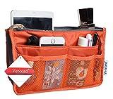 Purse Organizer,Insert Handbag Organizer Bag in Bag 13 Pockets 15 Colors 3 Size