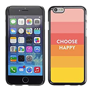Be Good Phone Accessory // Dura Cáscara cubierta Protectora Caso Carcasa Funda de Protección para Apple Iphone 6 // Choice Happy Quote Positive Life Motivation