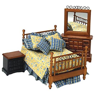 Dollhouse Miniature 4-Pc. Beaufort Bedroom Set