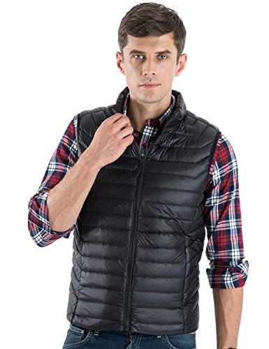 Fill Power Down Vest (CHERRY CHICK Men's Ultralight Packable Down Vest (L, Black-YX))