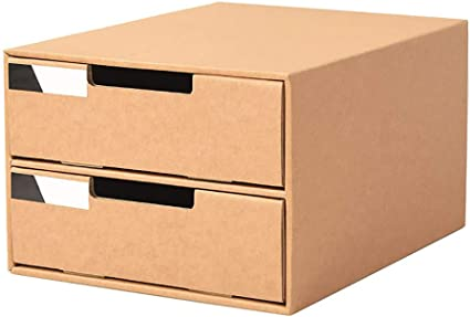 2 Cajones Caja De Almacenamiento De Escritorio Gabinete A4 ...