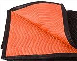 "Moving blanket from Forearm Forklift- 1 moving blanket ""Blaze"" orange/black | full size 72 x 80 |protect furniture and floors"