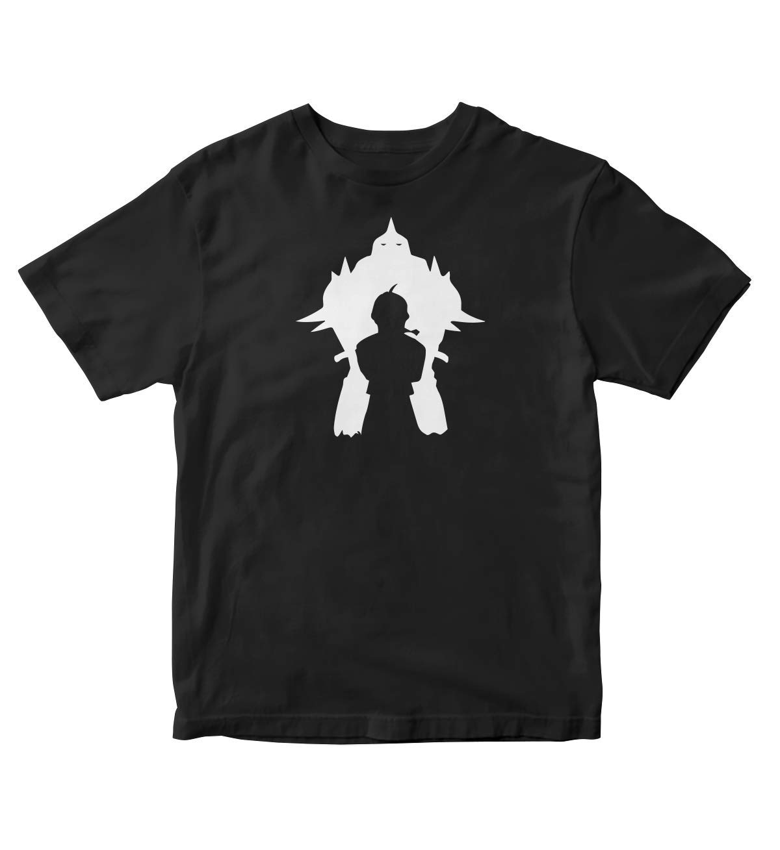 Fullmetal Alchemist Silhouette Manga Anime Black Shirt S A33