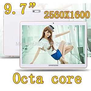 ARBUYSHOP 9,7 pulgadas 8 núcleo Octa Núcleos 2560X1600 DDR3 de 4 GB ram tarjeta sim 32GB 8.0MP cámara 3G WCDMA + GSM Tablet PC Tablets PCS Android4.4 7 8 9, blancos 16G versión estándar de fábrica