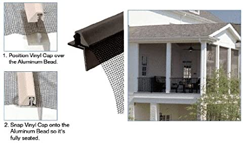 CRL ScreenEze Bronze Patio Screen Frame 96 inch (Screen Porch Systems)