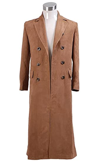 street price 100% satisfaction hot-selling discount Yewei Men Faux Suede Trench Coat Double Breasted Overcoat ...