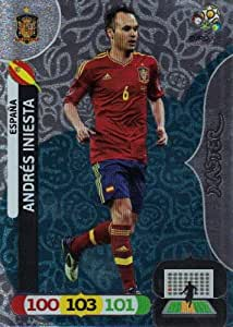 EURO 2012 Adrenalyn XL Master Card - Andres Iniesta [Toy