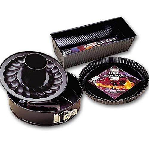 - KAISER Bakeware Set, 3-piece: Springform pan with flat & tube base 10