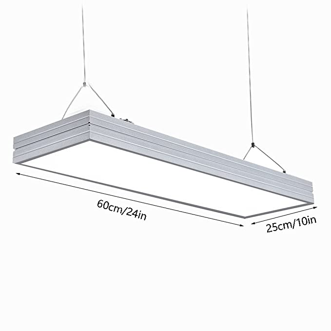 Amazon.com: LED Long Strips Office Aluminum Chandelier ...