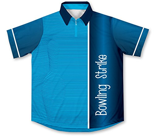 Blue Strike Bowling Jersey - Size 2XL Blue Strike Jerseys