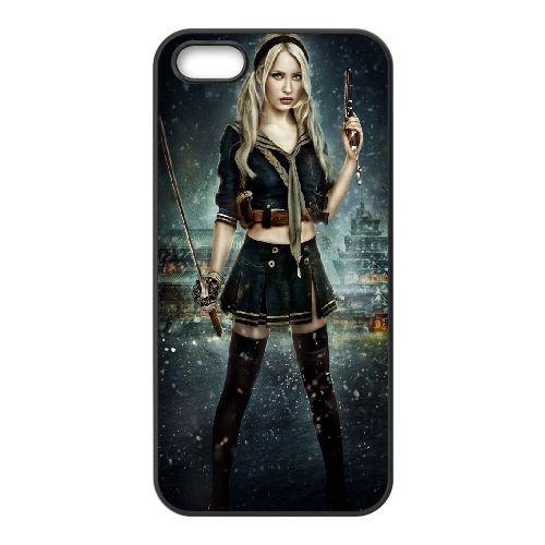 Baby Doll Sucker Punch 9 9 coque iPhone 5 5S Housse téléphone Noir de couverture de cas coque EBDOBCKCO11218