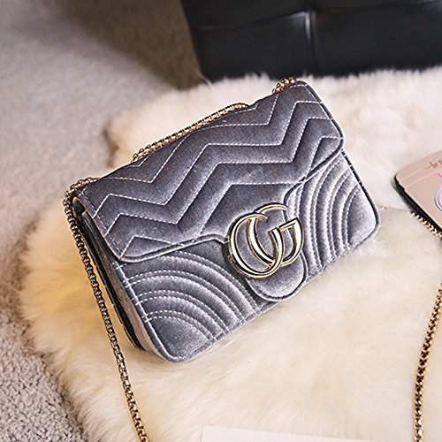 Cross Classic 2018 Women Mini Quilted Shoulder Bag Chain Gold Fashion Gray Bag Baby 21147cm cgletter Handbag Body Small Clutch Evening wxSrwBz6