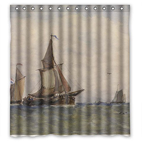 (Beeyoo Width X Height / 66 X 72 Inches / W H 168 By 180 Cm Polyester Art Painting Paul Jean Clays - Sea Sight Bath Curtains Fabric Is Fit)