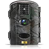 Artitan Trail Game Camera 12MP 1080P Wildlife Hunting Camera Motion Activated Deer Cam No Glow IR Light 65ft Detection Range with 2.4