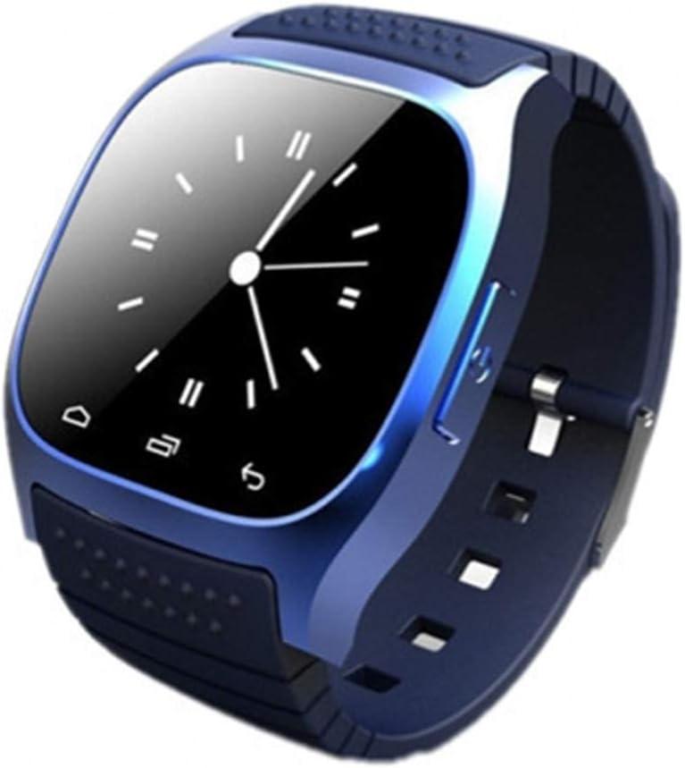Huiingwen M26 Muñeca Impermeable Bluetooth Smart Watch LED Pantalla Podómetro Fitness Tracker Reproductor de Música Llamada Smartwatch