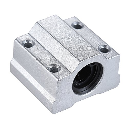 Walmeck SCS8UU 8mm Linear Motion Ball Bearing Block CNC Router Slide Unit Reprap 3D Printer DIY Kit Parts Accessories ()