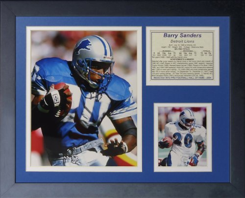 Legends Never Die Barry Sanders Home Collage Photo Frame, 11