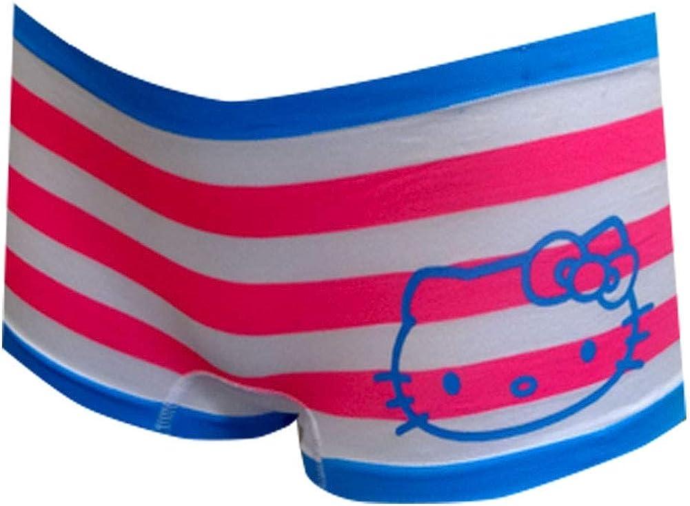 Hello Kitty Womens Pink Stripes Seamless Boy Short Panty