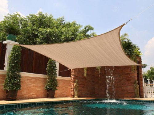 Amazon.com  MTN OutdoorGear 20u0027x16u0027 Deluxe Square Retangle Sun Sail Shade Canopy Top - Beige  Garden u0026 Outdoor & Amazon.com : MTN OutdoorGear 20u0027x16u0027 Deluxe Square Retangle Sun ...