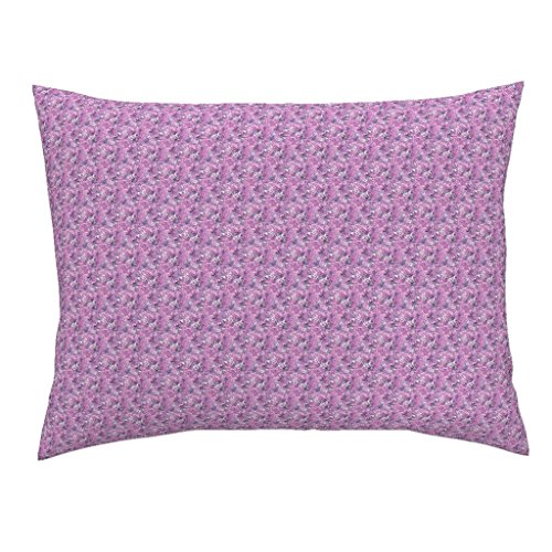 Roostery Monster Euro Knife Edge Pillow Sham Operetta Ditsy by Raccoons Rags Natural Cotton Sateen made (Monster High Dolls Cost)