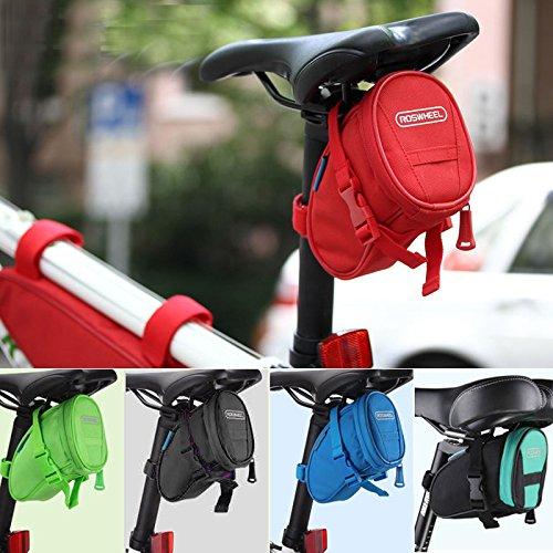 New Arrival Roswheel MTB Cycling Seat Bag Road Bicycle Bike Saddle Bag Basket Seat Post Bag Red