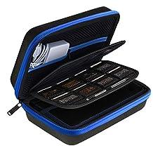 AUSTOR Travel Carrying Case Shell for Nintendo New 3DS XL (Black+Blue)