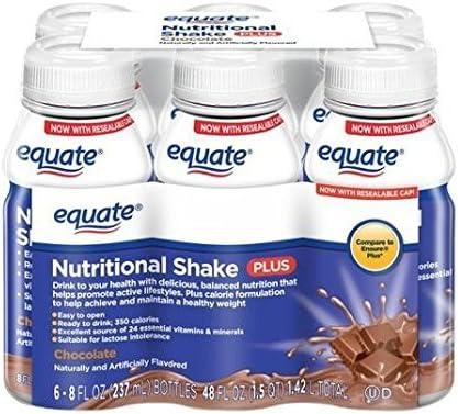 Amazon Com Equate Chocolate Nutritional Shake Plus 8 Fl Oz 6 Count Health Personal Care