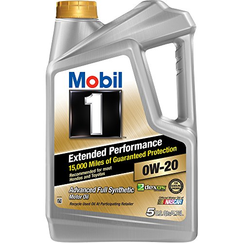 Mobil 1 Extended Performance 0W-20 Full Synthetic Motor Oil,