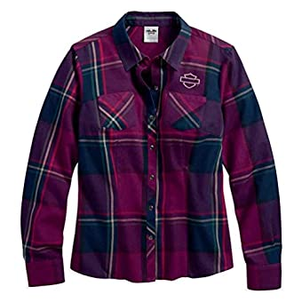 Harley-Davidson Women's Plaid Flannel Shirt