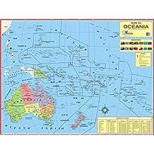 MAPA DA OCEANIA - POLÍTICO