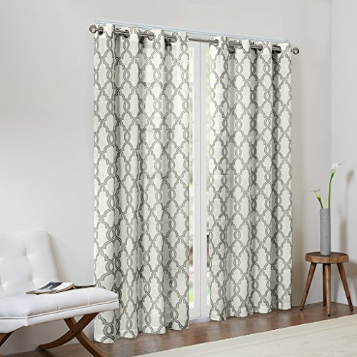 Grey Curtains For Living room, Modern Contemporary Linen Window Curtains For Bedroom, Print Bond Modern Grommet Window Curtains, 50X84, 1-Panel Pack Review