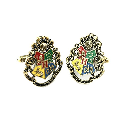 Harry Potter Hogwarts House Cufflinks w/Gift (Assassin's Creed Halloween Costume Ideas)