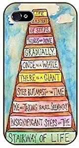 Diy For Mousepad 9*7.5Inch Life is a series of steps. Things are done gradually, once in a while there is a giant step. Stairway of life - black plastic Walt Disney And Life Quotes