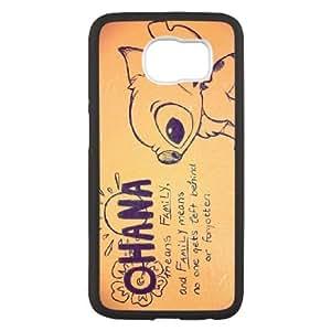 Disney Lilo y Stitch I1W5Ee Funda Samsung Galaxy S6 caja del teléfono celular Funda Funda Negro Y1K5RP de nuevo caso 6D