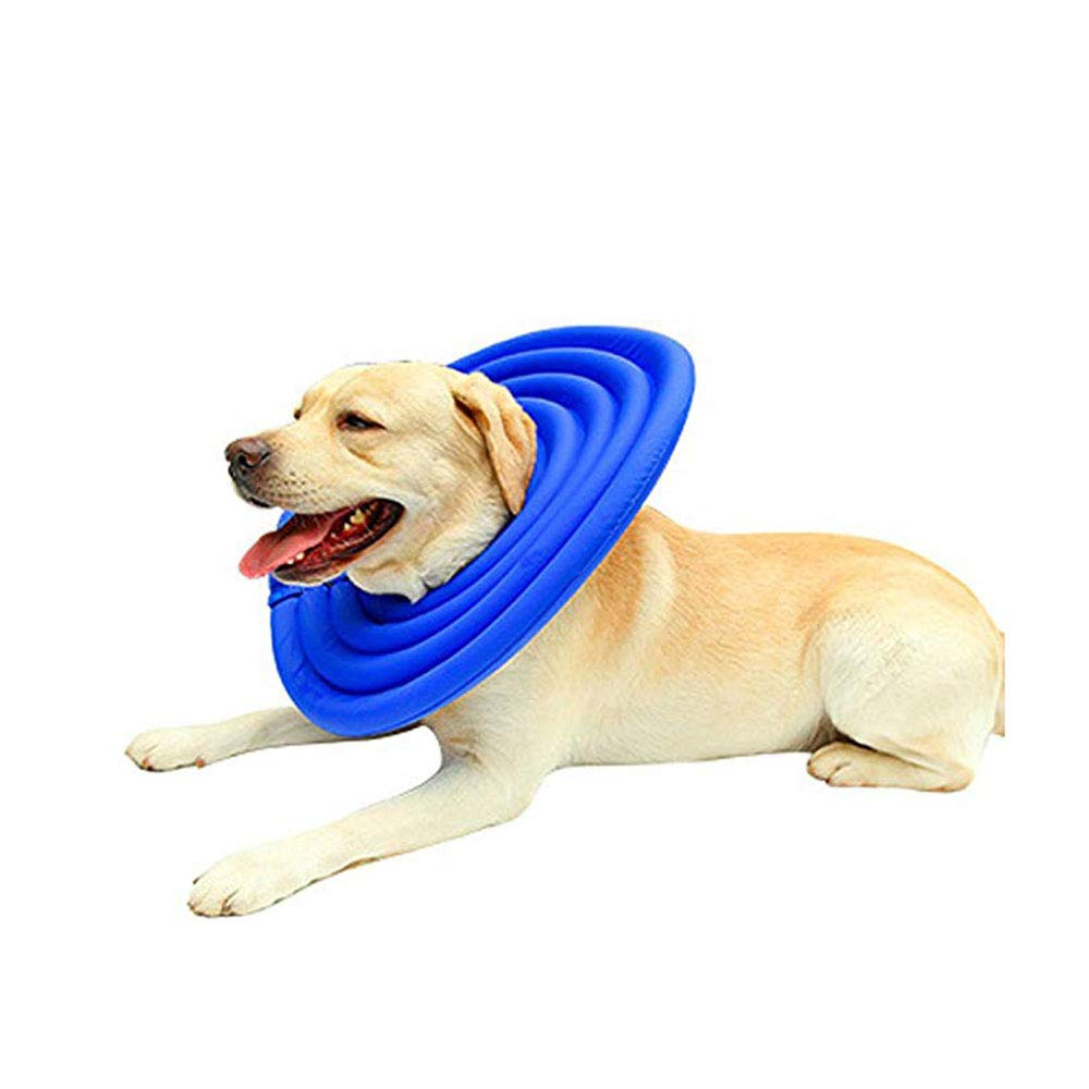 Pet Collar, Premium Leak Protection, Collar for Your Pet, Dog & Cat Anti-Bite Foam Interior, Soft, Super Lightweight and Durable,Blue,M by DOG CONE