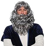 Biblical Wig & Beard Costume Set Gray
