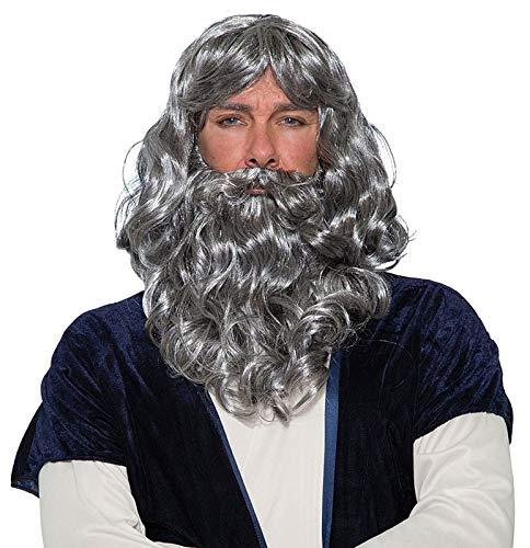 Biblical Wig & Beard Costume Set