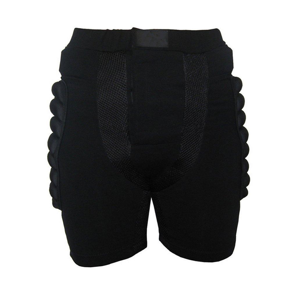 SODIAL(R) Tamano S Negro Equipo de proteccion Pantalones acolchados de cadera Proteccion de snowboard Patinaje Eesqui 046094