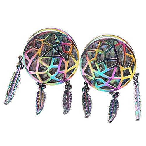 Orecchini Pezzi 2 Stile Acchiappasogni Dilatatori 25mm Di Livecity A Forma Multicolore In Punk POqn1d