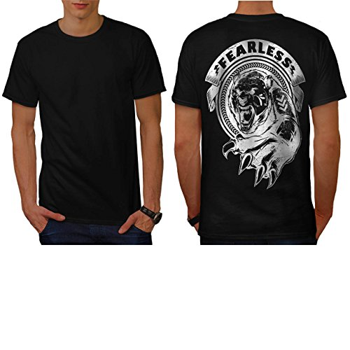 [Fearless Wild Animal Tiger Bear Men NEW M T-shirt Back | Wellcoda] (Bear Jew Costume)