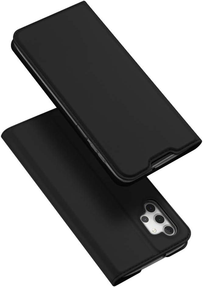 DUX DUCIS Funda Samsung Galaxy A32 5G, PU Cuero Flip Carcasa Fundas Móvil de Tapa Libro para Samsung Galaxy A32 5G (Negro)
